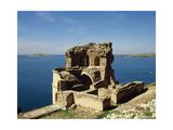Syria. Qalat Jabar Fortress. Lake Assad Giclee Print
