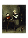 Blowing Bubbles Giclee Print by Auguste Theodule Ribot