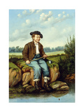 Boy Fishing Giclee Print by William Aiken Walker