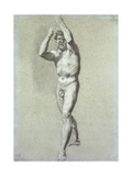 Study of a Man, with Two Arms Raised over the Head, Turned Slightly to the Left; Academie… Giclee Print by Pierre-Paul Prud'hon