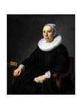 Portrait of a Lady, 1657, by Jan Victors (1619-1676) Giclée-Druck von Jan Victors