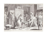 Alexander the Great in Appelles' Studio Giclee Print by Pietro Antonio Novelli