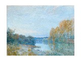 Soleil Couchant, Autumn Evening on the River, 1875 Giclee Print by Alfred Sisley
