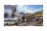 A Rocky Coastline at Padstow, Cornwall Giclee Print by Henry Bright