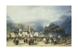 The War in Italy: Susa, Mont Cenis, Bivouac with French Troops, 1859 Giclee Print by Carlo Bossoli