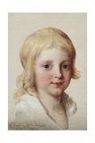 Portrait Study of Francesco, Crown Prince of Naples, as a Boy, Head and Shoulders Giclee Print by Angelica Kauffmann