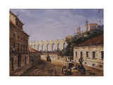 The Aqueduct and Convent of Sta Teresa, Matacavallos Street, Rio De Janeiro Giclee Print by William Gore Ouseley