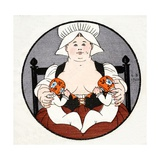 The Wet Nurse with Twins Giclee Print by Georges Barbier