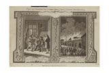 London Fires of 1666 and 1758 Giclee Print by Samuel Wale