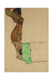 Reclining Male Nude with Green Cloth (Self-Portrait) Giclee Print by Egon Schiele