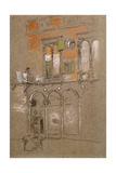 A Venetian Courtyard Giclee Print by James Abbott McNeill Whistler