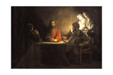 Supper at Emmaus, 1648, by Rembrandt Van Rijn (1606-1669) Giclee Print