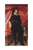 Portrait of Henri De Lorraine, Duc De Guise, Called Le Bafafre (1550-1588), Full-Length, in Black… Giclee Print by Frans II Pourbus