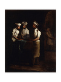The Three Cooks; Les Trois Cuisiniers Giclee Print by Auguste Theodule Ribot