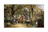 A Scene from 'As You Like It': Rosalind, Celia and Jacques in the Forest of Arden, 1864 Giclee Print by John Edmund Buckley