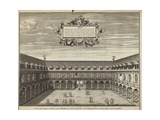 The Quadrangle on the Inside of the Royal Exchange Giclee Print by George Vertue
