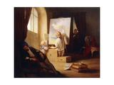 The Sleeping Painter; Der Schlafende Maler, 1841 Giclee Print by Josef Danhauser