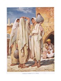 Three Syrian Women Carrying Water Pitchers Giclee Print by John Fulleylove