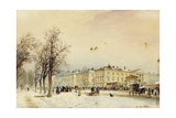 The North Station, Vienna; Der Nordbahnhof, Wien, 1852 Giclee Print by Rudolph von Alt