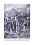 Prisoners before Queen Ethelred, 1920's Giclee Print by Richard Caton II Woodville
