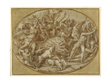 The Hunt of the Calydonian Boar Giclee Print by Perino Del Vaga
