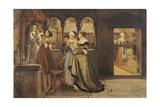 Pour La Fete De Notre Dame, 1868 Giclee Print by Charles Napier Hemy