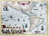 17th Century Map of the New World Photo by Georgette Douwma