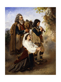 Pagans before the Altar; Pifferar Vor Einem Altar Giclee Print by Anton Romako