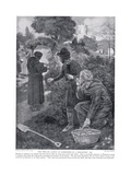 The Two De Laceys as Gardeners in a Monastery Ad1210, 1920's Giclee Print by Ernest Prater