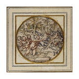 Diana and Actaeon - Design for a Pendant or Hat Badge, C.1532-43 Giclee Print by Hans Holbein the Younger