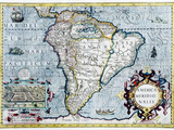 17th Century Map of South America Print by Georgette Douwma