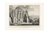 View of a Large Tomb Called El Deir, Petra, 1830 Giclee Print by Leon de Laborde