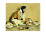 The Pottery Maker Giclee Print by Eanger Irving Couse