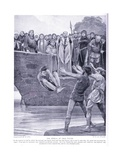 Ordeal of Cold Water, 1920's Giclee Print by Richard Caton II Woodville