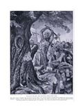 Malchy Felling the Munster Coronation Tree, 1920's Giclee Print by Richard Caton II Woodville