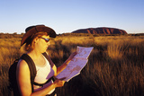 Tourist At Uluru Photographic Print by Carlos Dominguez