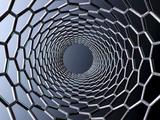 Nanotube Technology, Computer Artwork Fotografisk tryk af Laguna Design