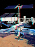 ATV Boosting the ISS, Stereo Image Photographic Print by David Ducros