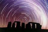 Composite Image of Star Trails Over Stonehenge Posters by Dr. Fred Espenak