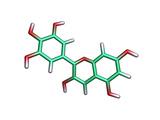 Delphinidin Molecule Photographic Print by Dr. Tim Evans