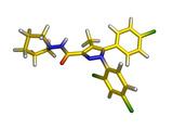 Rimonabant Drug Molecule Prints by Dr. Tim Evans