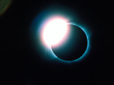 Total Solar Eclipse Showing Diamond Ring Effect Photographic Print by Dr. Fred Espenak