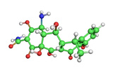 Doxycycline Antibiotic Molecule Photographic Print by Dr. Tim Evans