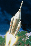 Artist's Impression of the Launch of An Ariane 5 Photographic Print by David Ducros