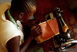 Using a Sewing Machine, Uganda Photographic Print by Mauro Fermariello