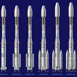 Ariane 4 Rocket Versions, Artwork Photographic Print by David Ducros