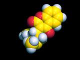 Warfarin Molecule Photographic Print by Dr. Tim Evans