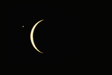 Photo of Venus & Crescent Moon Photographic Print by Fred Espenak