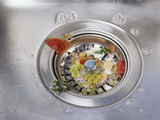 Plughole Food Trap Photographic Print by Carlos Dominguez