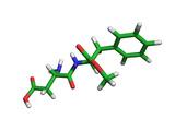 Aspartame Molecule Photographic Print by Dr. Tim Evans
